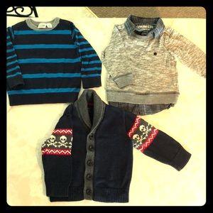 LOT 3pieces 18mo-24mo toddler sweaters